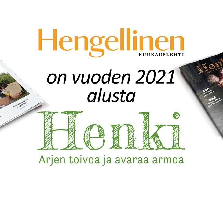 Hengellinen Kuukauslehti on vuoden 2021 alusta Henki