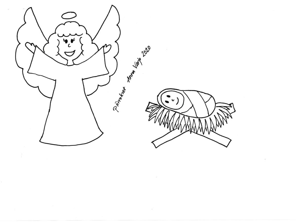 Seimihahmoja, piirtänyt Anna Varjo 2020