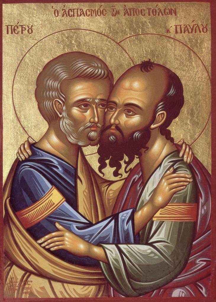 Paavali ja Pietari. Ortodoksinen ikoni.